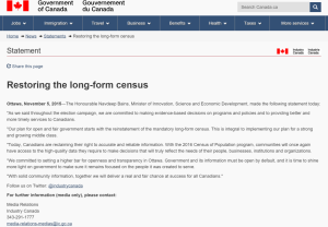 datalibre.ca · The Long Form Census is restored! The Recensement ...